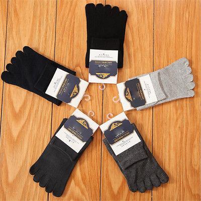 3 Pairs Men's Stretch Socks Five Socks