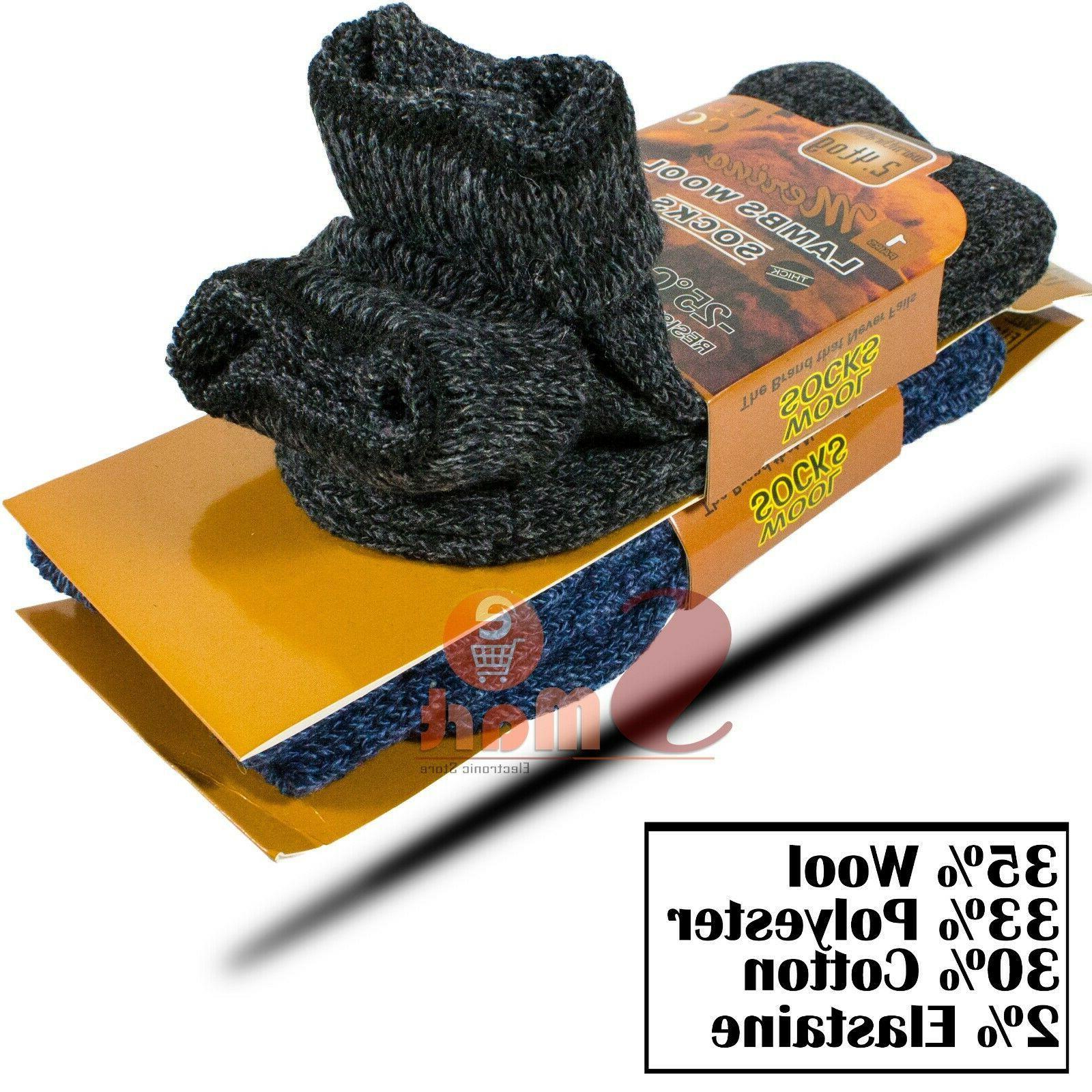 3 Winter Merino Lambs Wool Heavy Duty Thermal Boots Mens 10-13