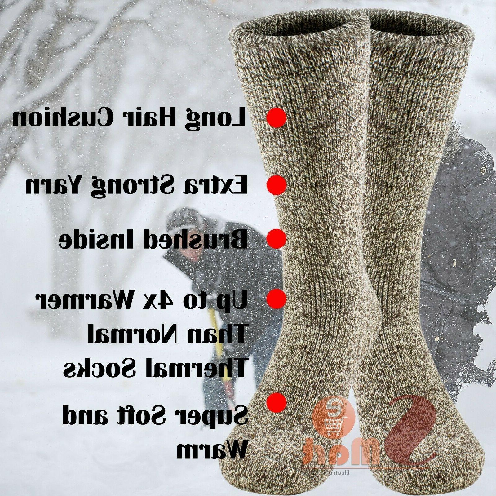 3 Pairs Winter Merino Lambs Thermal Mens