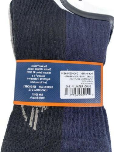 2 Pk Dockers 3Pairs Dress Socks Fits Size