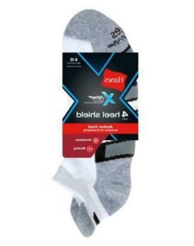 4-Pack Active Cool Heel Shield Socks - Assorted