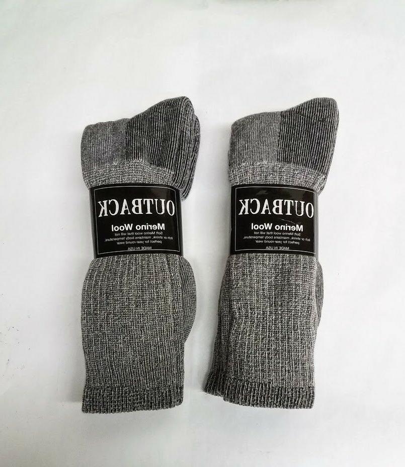 4 pair heather grey acrylic merino wool