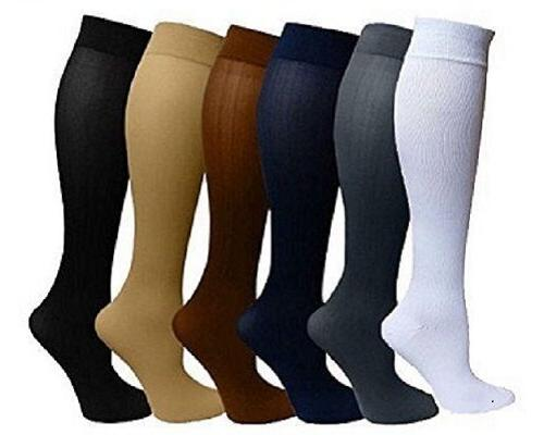 4 pairs compression socks stockings graduated support