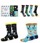 Zmart 4 Pairs Mens Crazy Funny Cute Novelty Cotton Food Crew