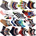 5 Pairs Cotton Ankle Socks Lot Mens Unisex Womens Casual Spo