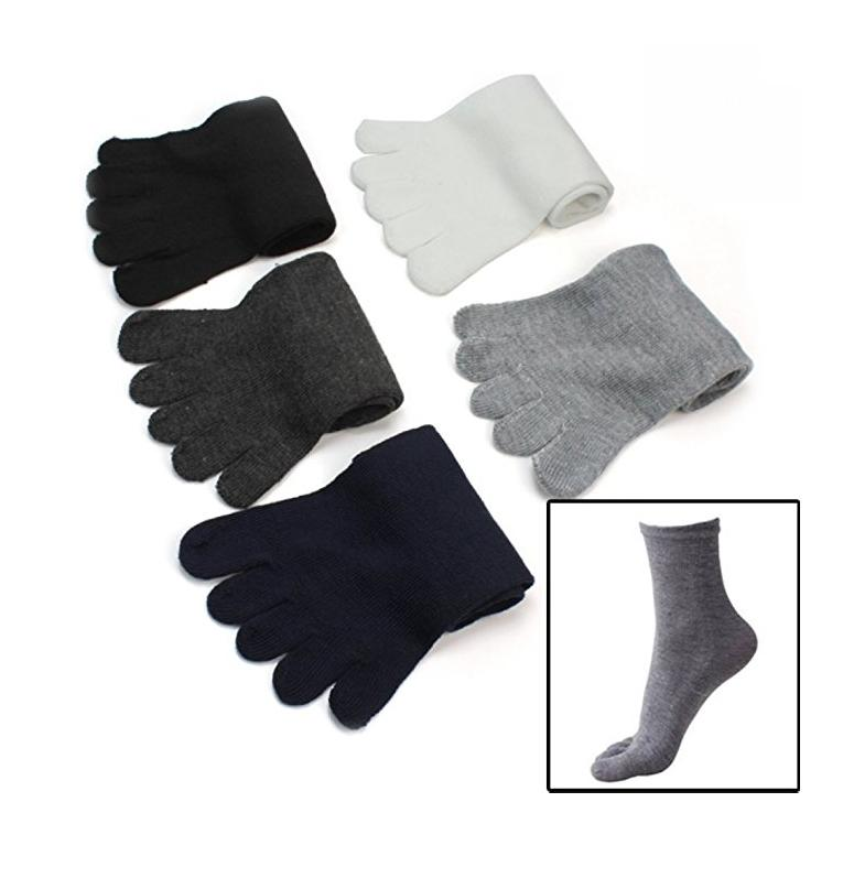 White Casual Toe Socks Show Socks