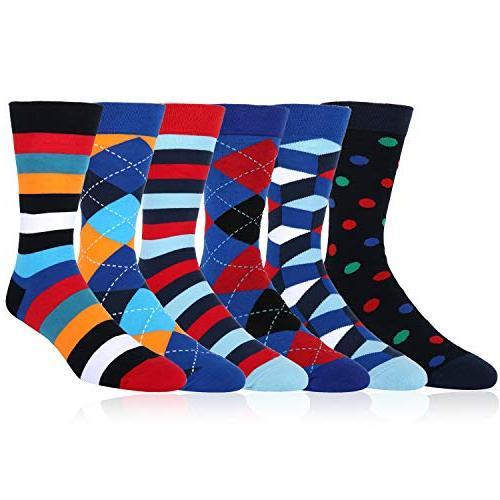 6 Argyle Dress Classic Socks