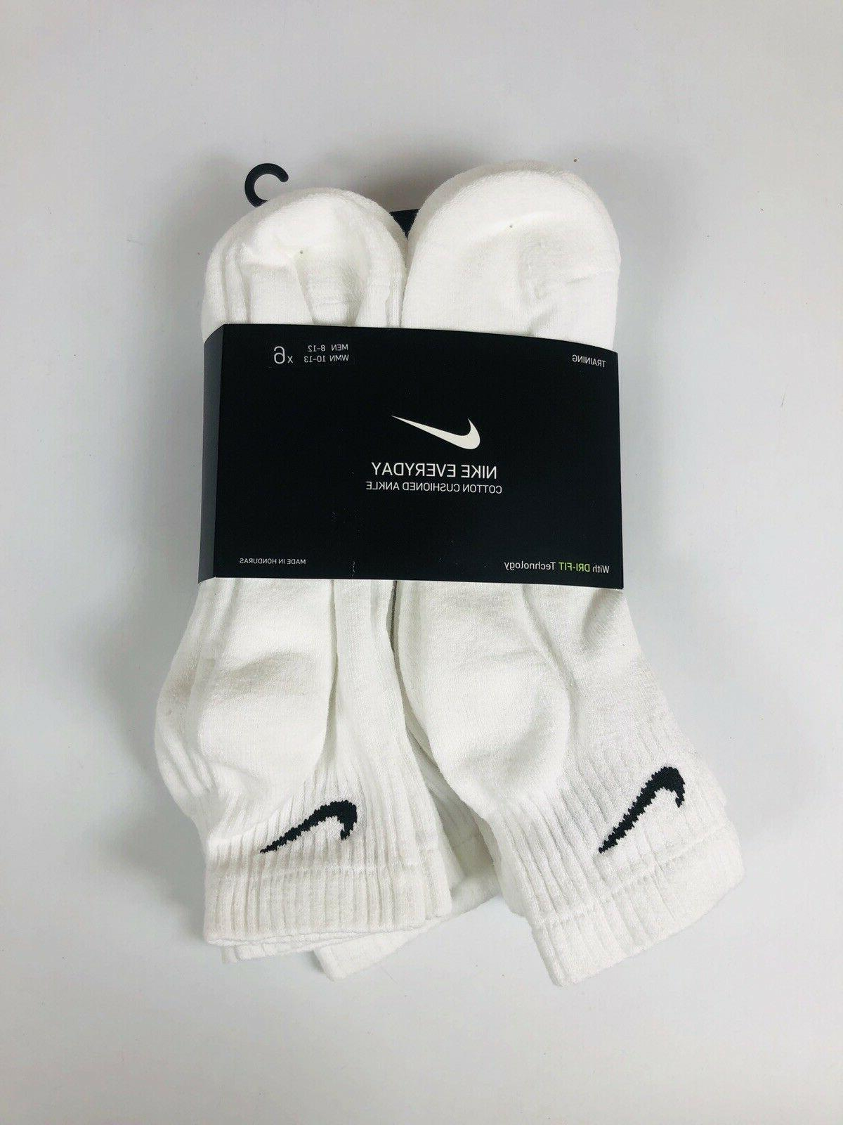 6 pack everyday cotton cushioned ankle socks