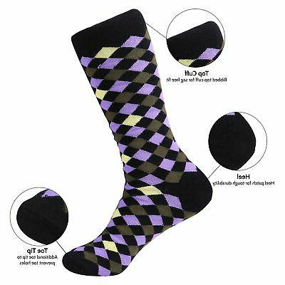 12 Pack Socks Men's Fun Colorful Socks