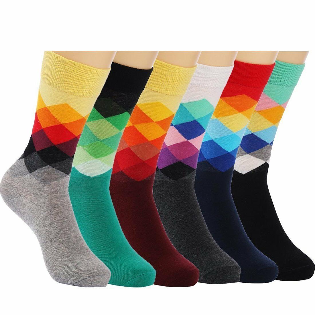 6-Pair Funny Rainbow Shoe 6-12