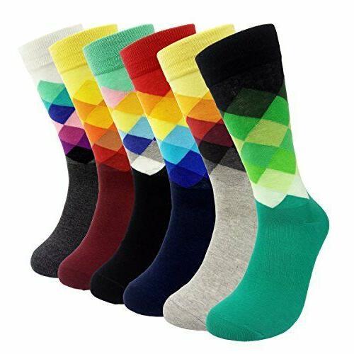 6 packs dress socks funny