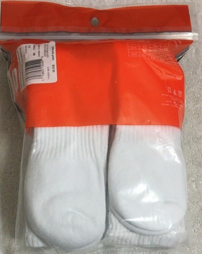Nike 6-Pair Cotton Crew 8-12 White - 7287