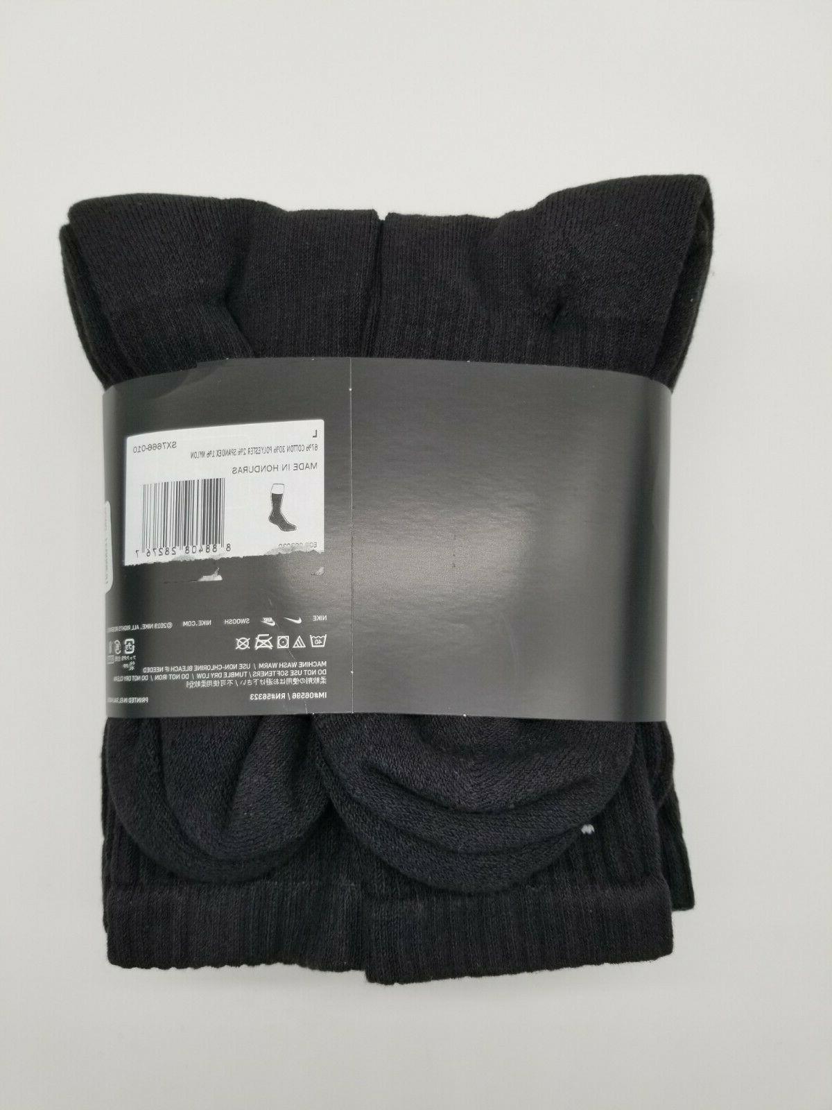 Nike Cotton Cushioned Socks Size L Black