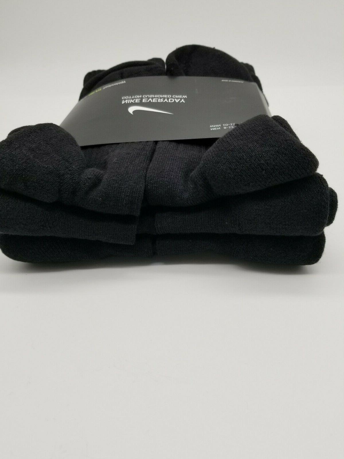 Nike 6 Cotton Size L Men 8-12 Black