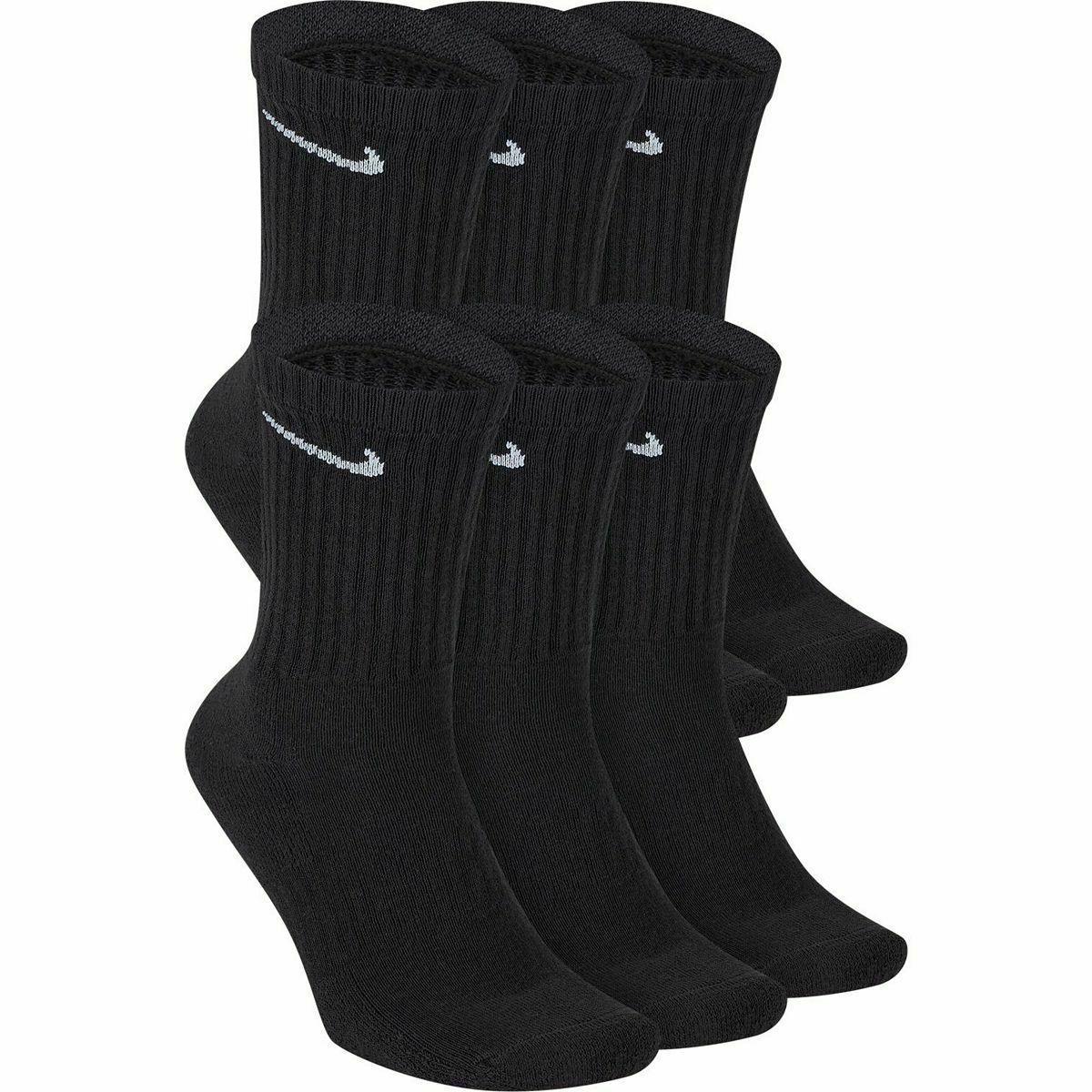 6 pairs everyday cotton cushioned crew socks