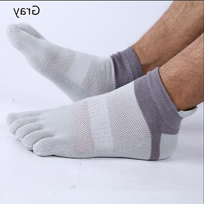 6 Cotton Five Finger Toe Socks Sports Ankle Low Cut US