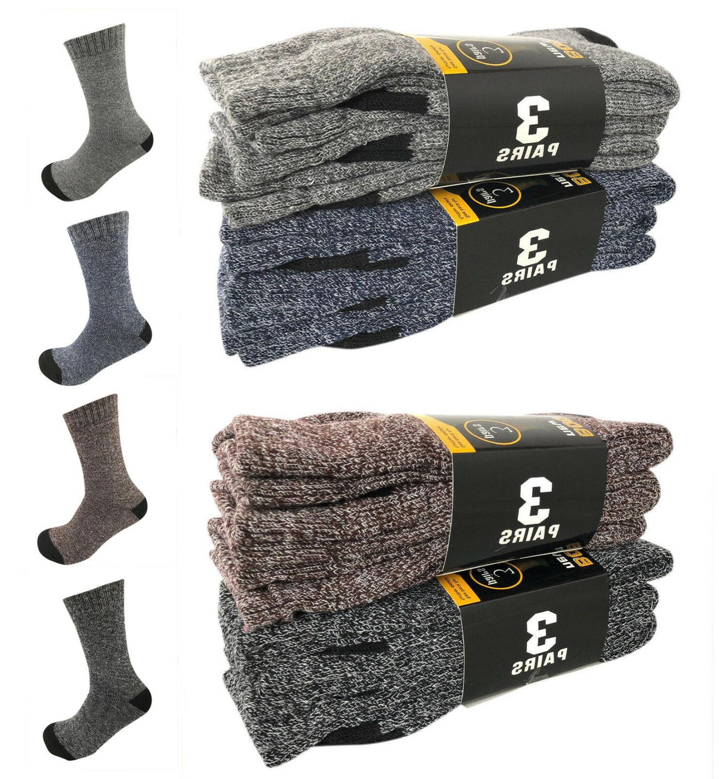 6 pairs men winter warm thermal crew