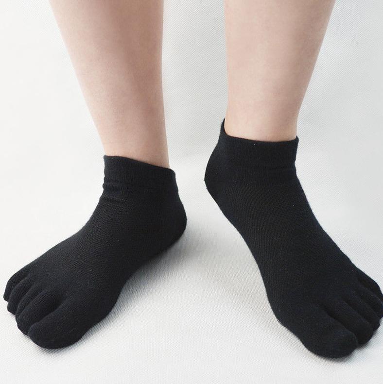 6 Pairs Mens Cotton Toe Five Finger Socks Casual