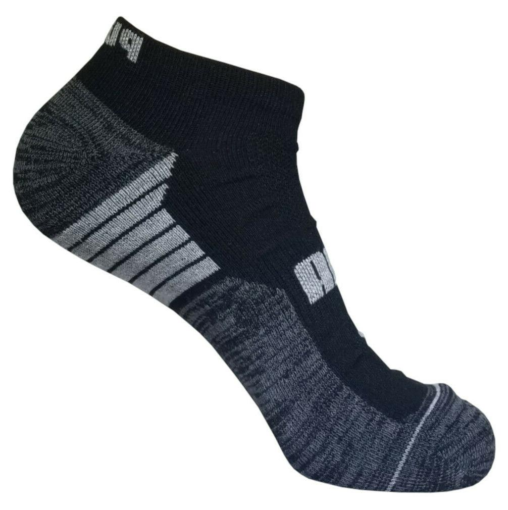 6 pairs mens puma dri fit low cut socks 10-13