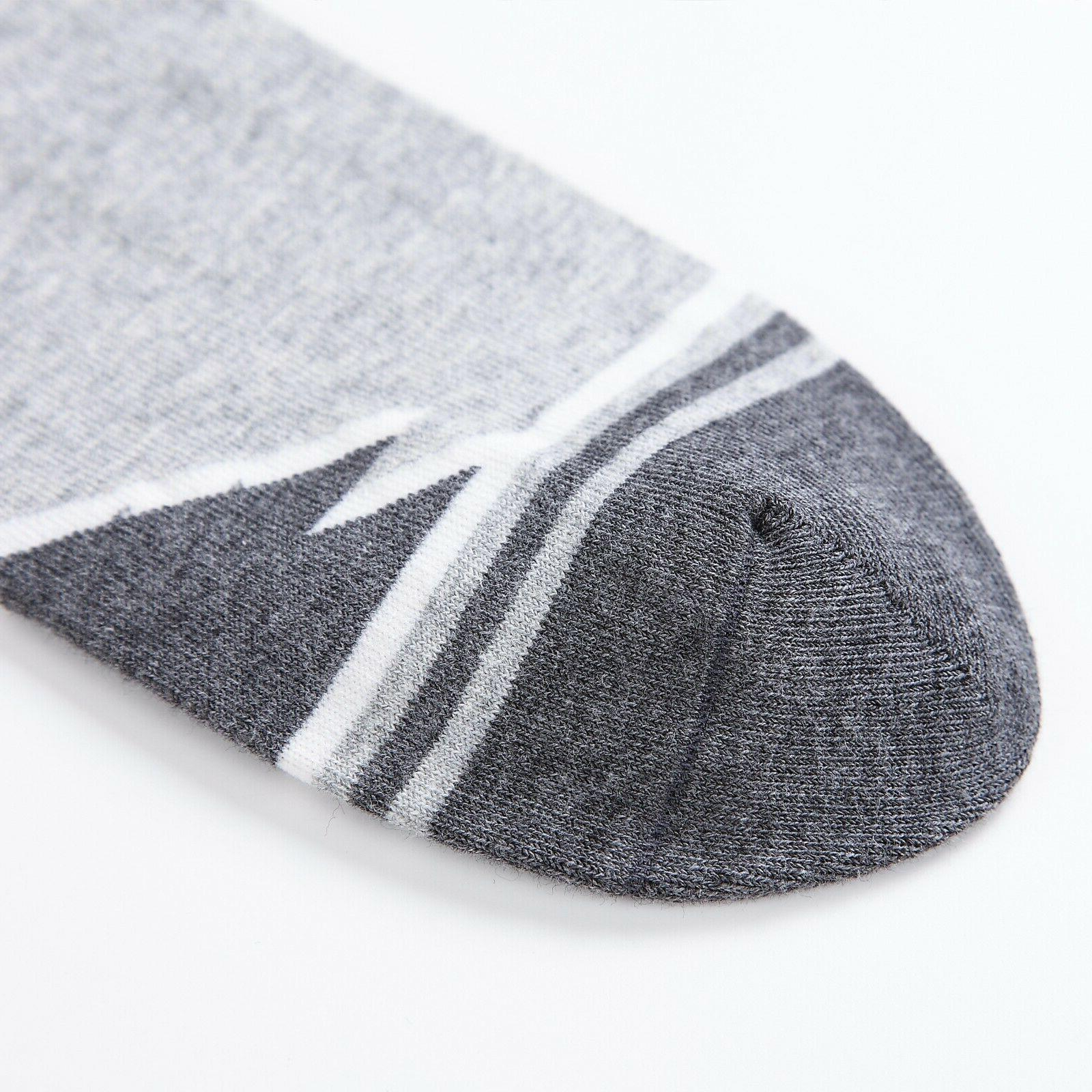 6 Cut Ankle Stripe Socks,100% Cotton