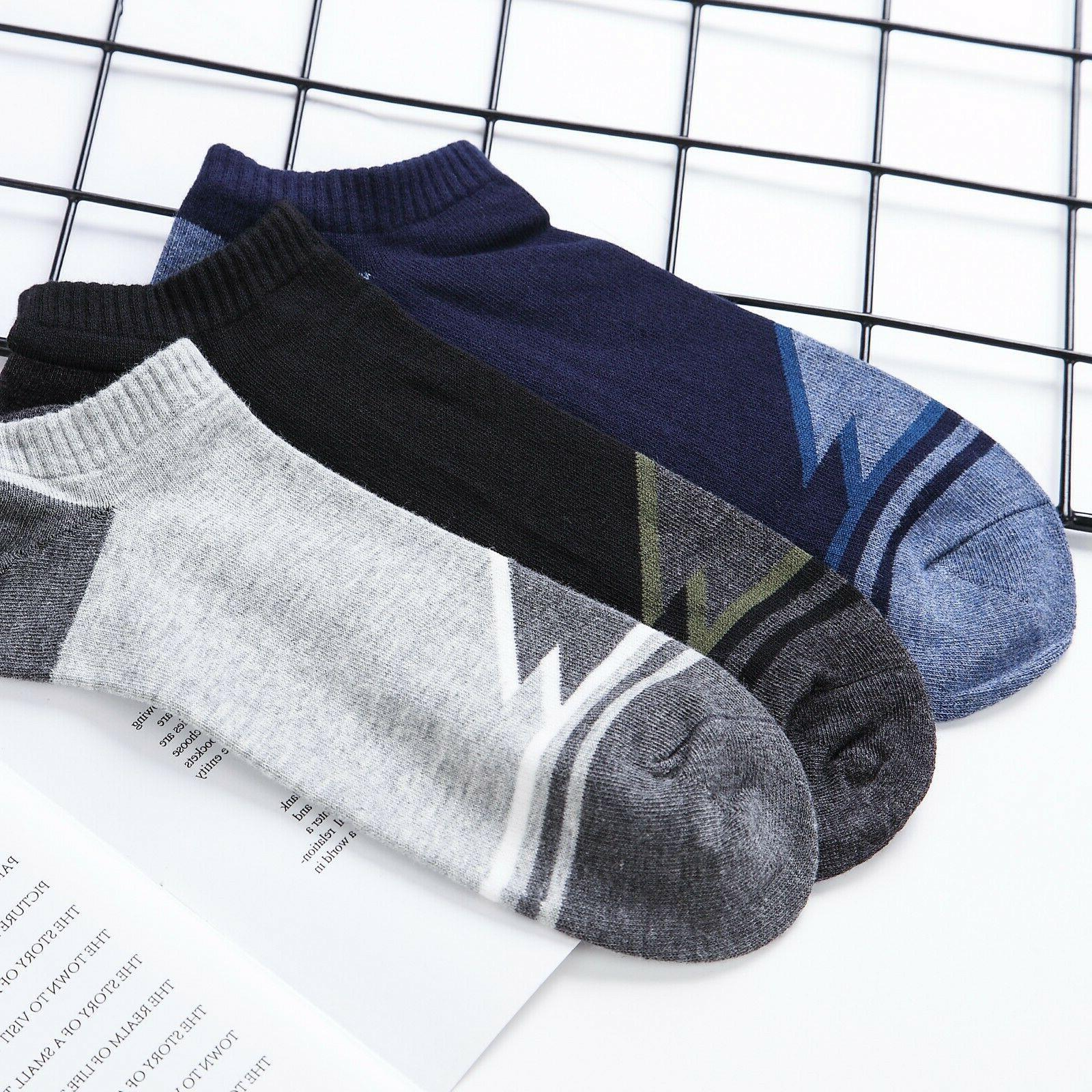 6 Pairs Mens Low Cut Ankle Cotton Sport Socks,Antibacterial