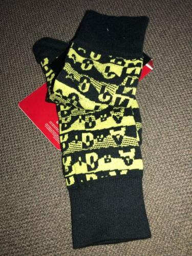 631714-017 Jordan Sock Black Yellow 8-12 Ship
