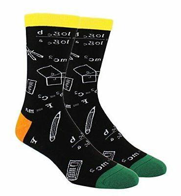 Happypop Men Dress Crew Socks, Wicking Cotton Galaxy Space