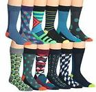 James Fiallo Mens Patterned Dress Socks, Poly Neon Colorbloc