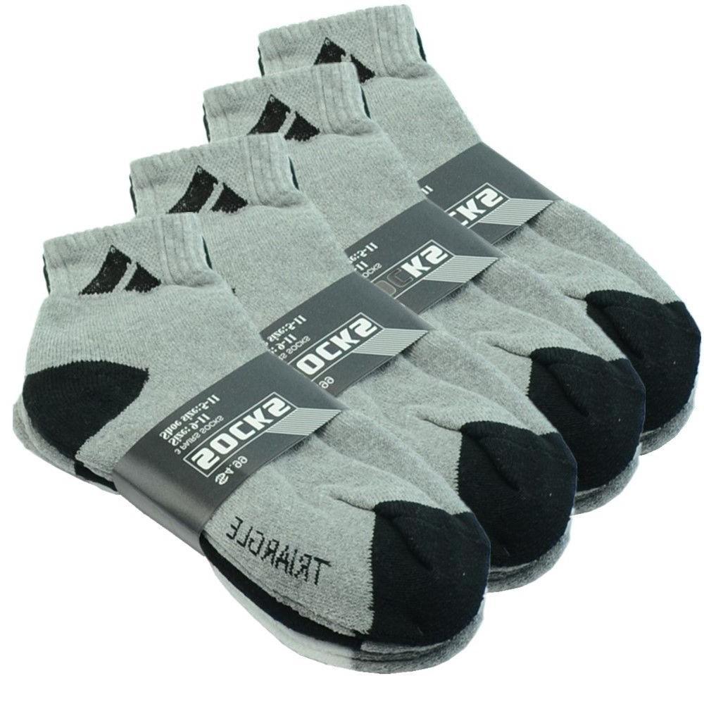 Adi 12 Ankle/Quarter Crew Sport Cotton Low Cut Size 9-11