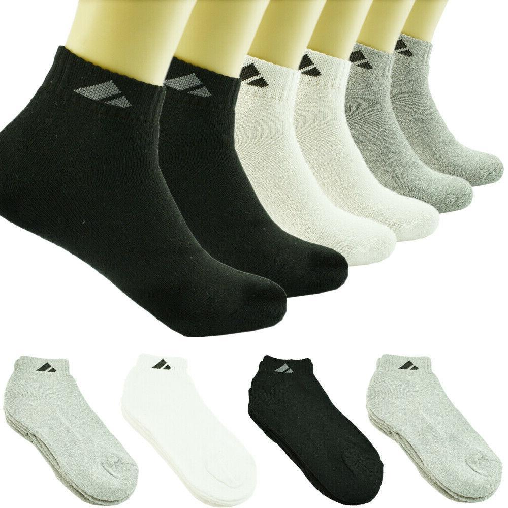 adi 12 pairs ankle quarter crew mens