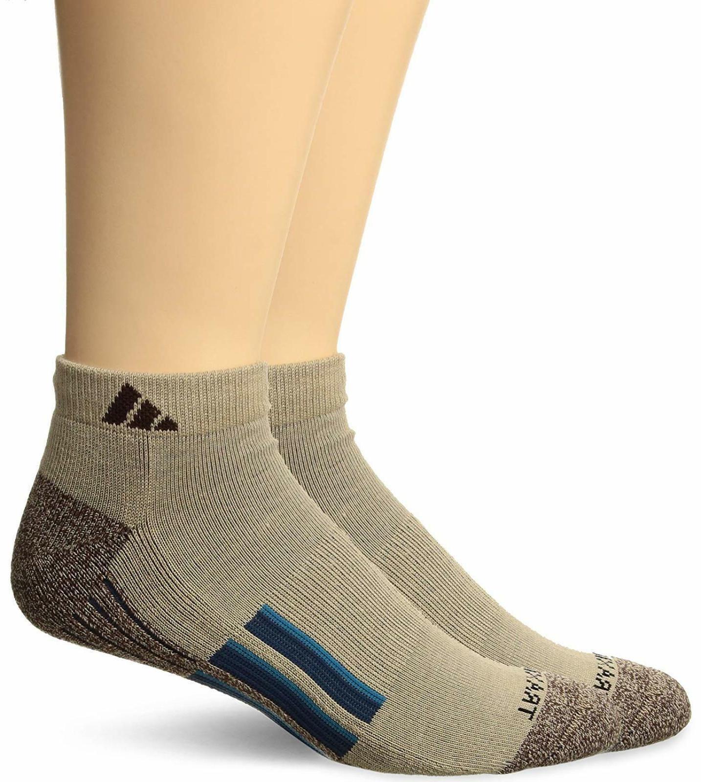 103863 Adidas Mens Climalite X II Low Cut Socks 2 Pack