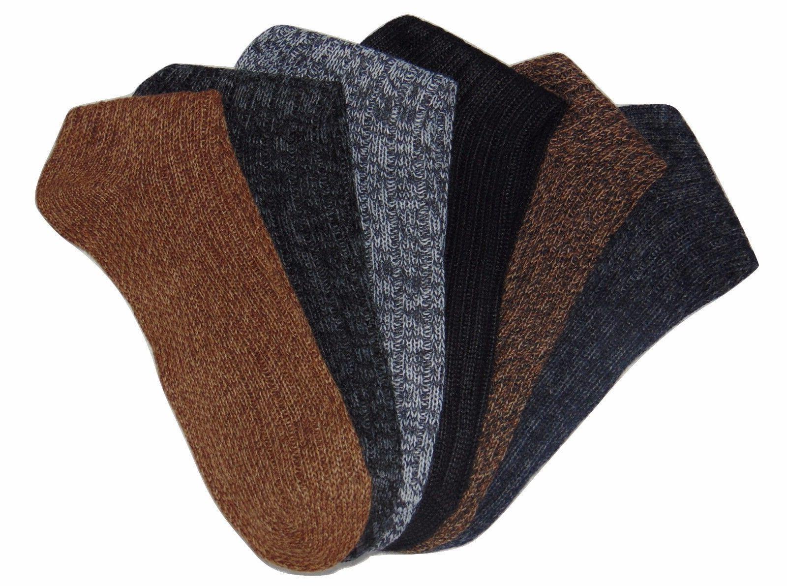 Alpaca Men Socks Boot Comfortable 2-Pack M