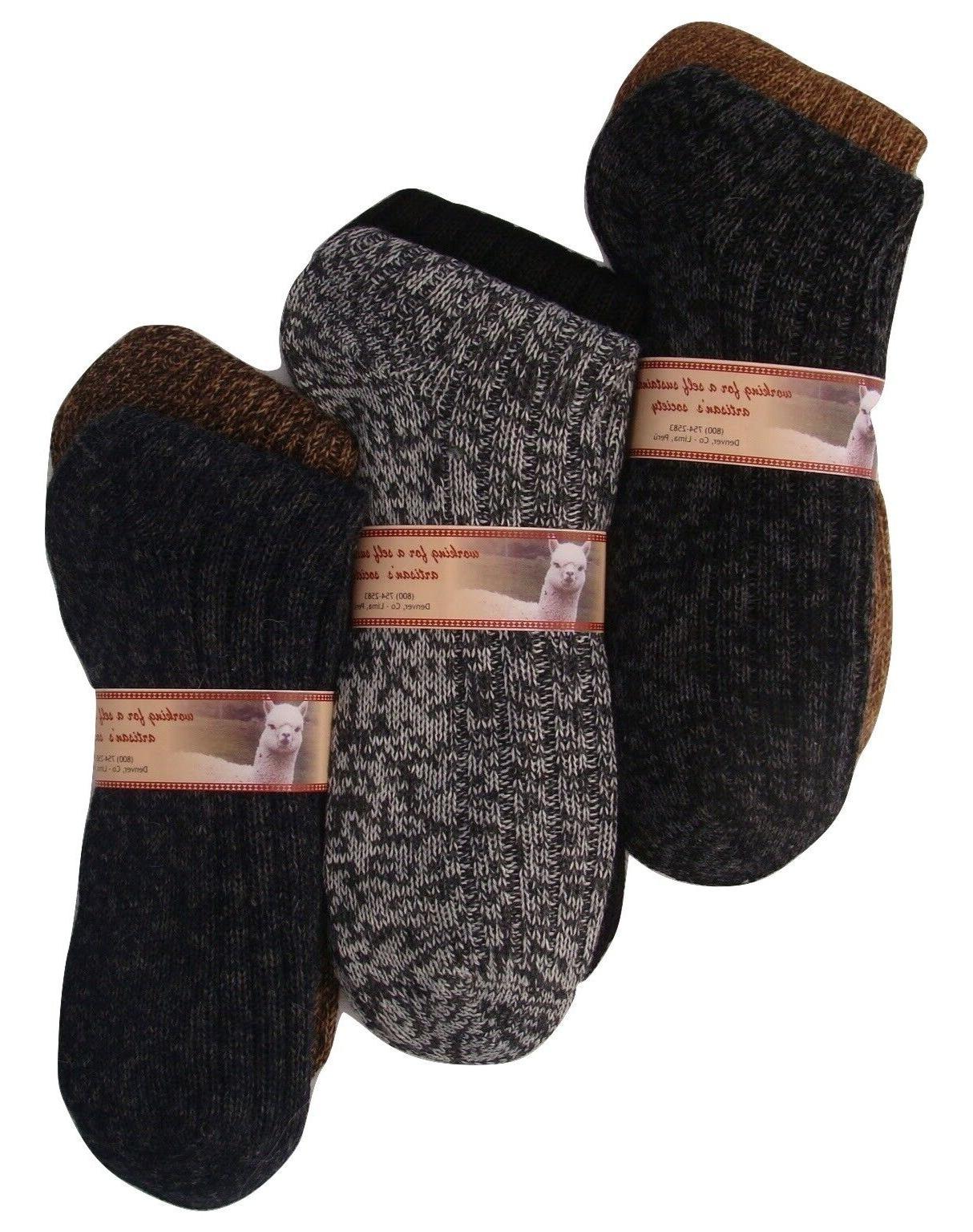 alpaca men socks winter boot heavy warm