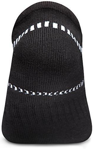 Tesla CLSL TM-MZS04-BLK_Large Men's 6-Pairs Atheltic Show Socks Cushioned Comfort w Mesh
