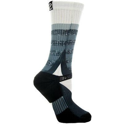 Strideline Athletic Crew Socks Optics Moon White 2600411 Str