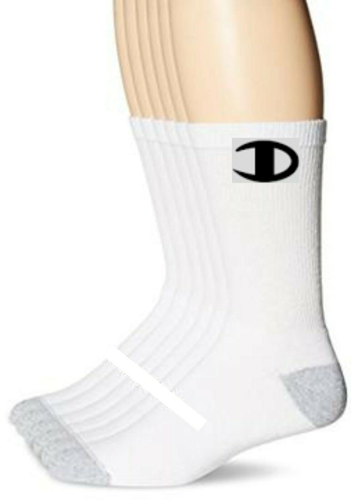 brand crew socks white 6 pack