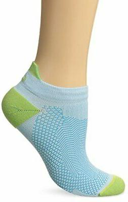 ASICS Cooling Single Tab Running Socks, Turquoise/Pistachio,