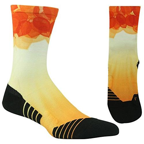 Crazy Colored for Men Women Athletic Sports Crew Socks for Basketball 4