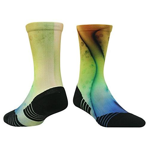 Crazy Fun for Women HUSO Athletic Crew Socks for Basketball