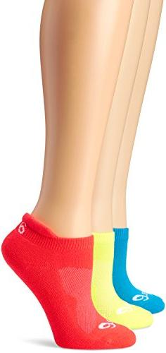 ASICS Women's Cushion Low Cut Sock , Small, Atomic Blue Asso