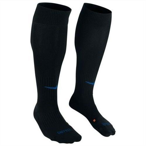 dri fit classic black blue soccer socks