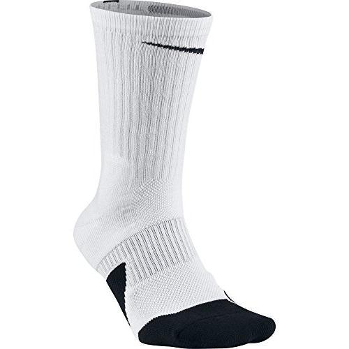 NIKE Unisex Dry Elite 1.5 Crew Basketball Socks , White/Blac