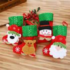EDBB Cartoon Elk Christmas Socks Gift Bag Flannel Sequins De