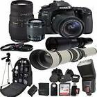 Canon EOS 80D Digital SLR Camera Kit  Lens Accessory Bundle