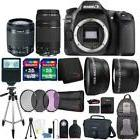 Canon EOS 80D DSLR Camera + 18-55mm and 75-300mm Lens and To