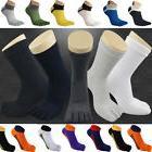 Five Finger Sports Socks Men's Cotton Toe Socks Breathable R