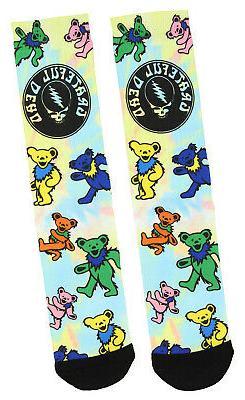 Grateful Dead Tie Dye Dancing Bears Sublimated Adult Crew So