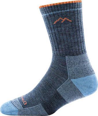 hiker micro crew cushion socks denim mens