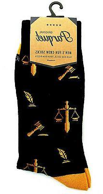 Lawyer Men's Socks Legal Scales Judge Novelty Fashion Cotton