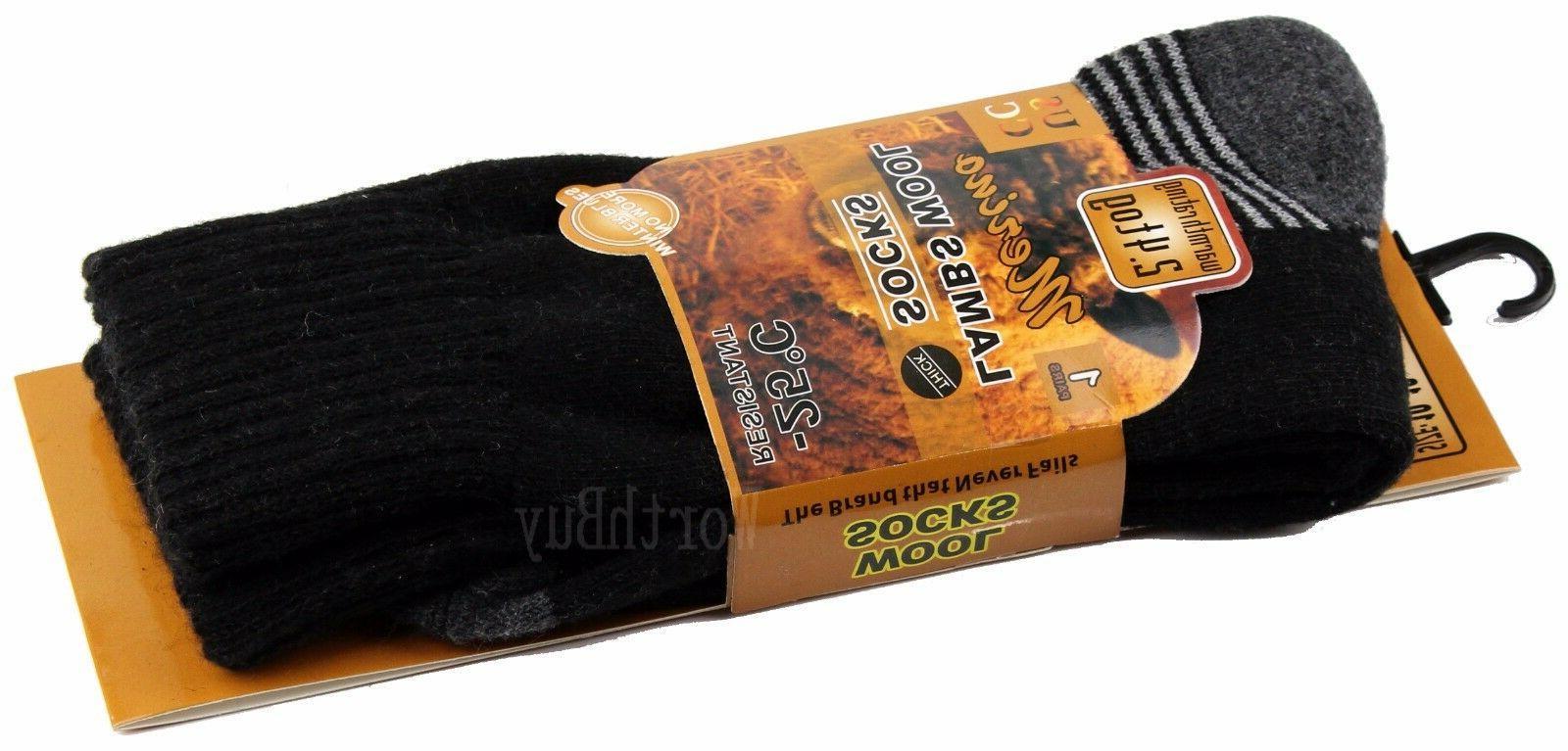 Lot Heavy Duty Winter Merino Lambs Boots Thermal Socks